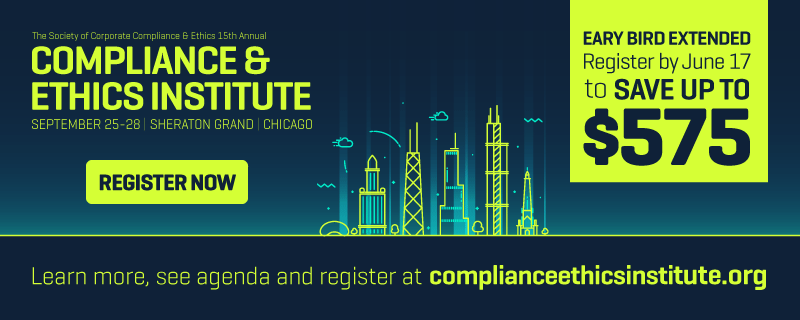 Register now for the Compliance & Ethics Institute and save