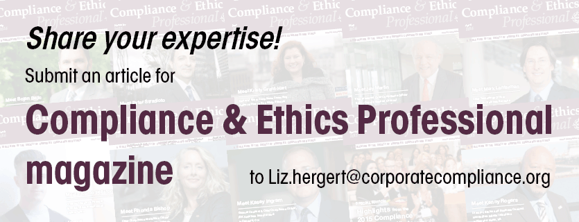 Write for Compliance and Ethics Professional magazine