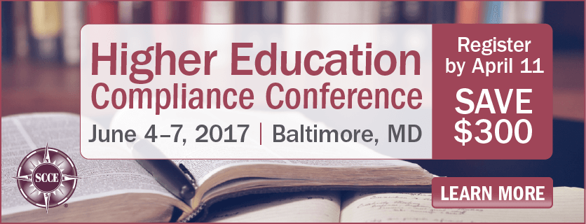 Register now for the Higher Education Compliance Conference