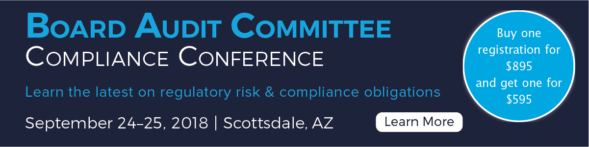 Bring a Board Member to the Board Audit Committee Compliance Conference