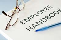 close-up on Employee Handbook