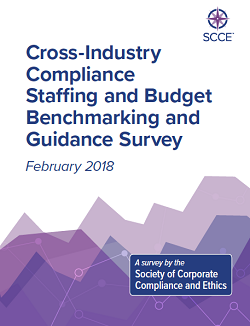 2018 Cross-Industry Compliance Staffing and Budget Benchmarking and Guidance Survey