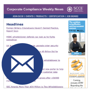 Corporate Compliance Weekly News