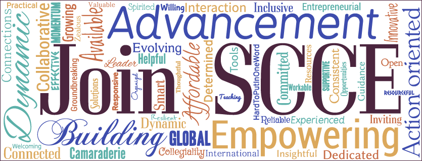 Join SCCE word cloud